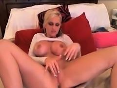 Huge Tits Blonde Masturbating