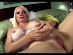 Blonde horny grandma in teasing solo free