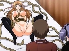 Enticing anime babe gets pounded