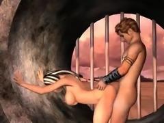 Busty 3D cartoon blonde vixen gets her pussy fucked