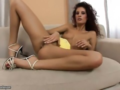 Redhead Leanna Sweet wants this masturbation session to last forever