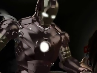 Sexy 3D brunette babe getting fucked hard by Iron Man