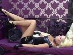 Natasha Black Latex Sleeveless Dress