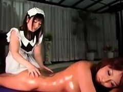 Horny Japanese Lesbian And Her Maid