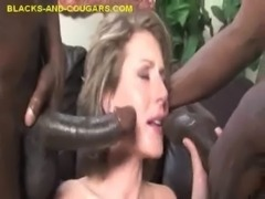 MILF Takes Two Black Dicks free