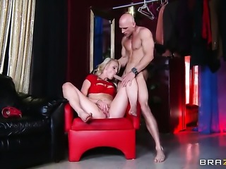 Sex obsessed slut Zoey Paige doing dirty things with hard cocked dude Johnny...