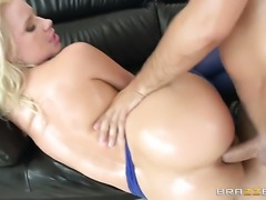 Anikka Albrite gets an ass stuffing in anal sex action with Keiran Lee after...