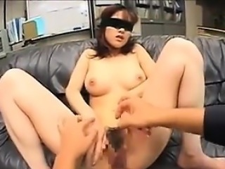 Japanese Secretary Gets A Facial In An Office