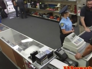 Real pawnshop sex with bigass cop in uniform
