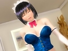 3D anime maid gets fucked and cummed