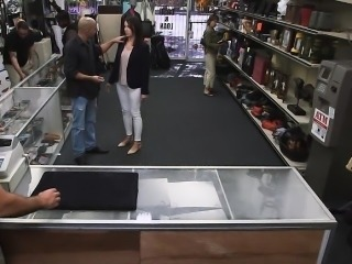 Customers wife fucked by horny pawnkeeper at the pawnshop