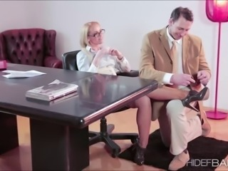Horny babe kathnia Nobili getting fuck at the office du