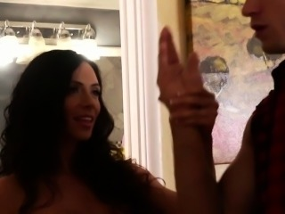Naughty mom Ariella Fererra gets big knockers fucked well
