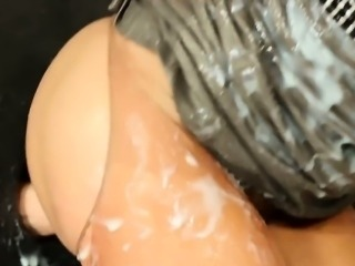 Bukkake sprayed glam slut