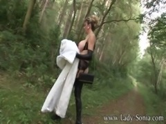 Lady Sonia Fur Coat And Thigh Boots In The Woods free