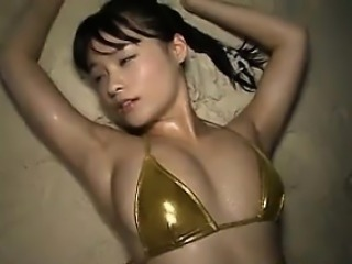 Asian Babe At The Beach In A Bikini Softcore