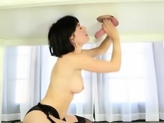 Hot therapist milks cock