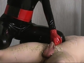 Drips Candlewax On Guys Tied Body