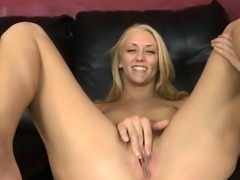 Sexy Blonde Vienna June Gets Horny And Masturbates