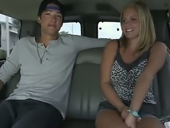 This cute blonde babe7 Anabelle Pync is screwed in a car and she loves it....