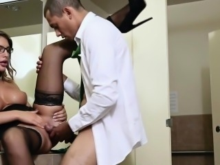 Bigtitted slut pounded in office restroom