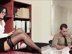 Secretary Alexa Tomas in tight pussy fuck