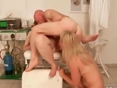 Two bitches and guy pissing and fucking
