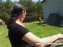 Tall Mature Lady Gets Banged By A Farm Boy free