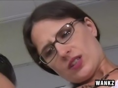 Mature Lena Ramone hairy pussy and Siiick Facial free