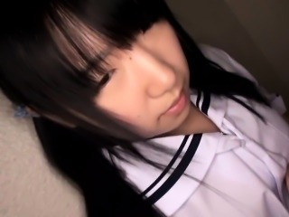 Petite Japanese schoolgirls toy stimulated