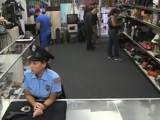 Ms police officer gets her pussy fucked by pawnkeeper