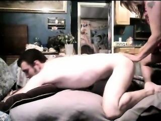 Fucking Her Boyfriend With A Strapon