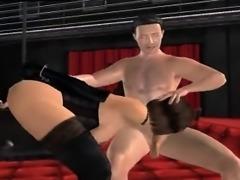 Hardcore bondage blowjob