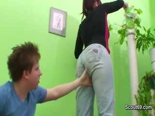 German Mom caught and fuck hardcore with young teen boy free