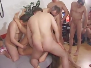 29 guys at gangbang party for wife free