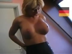 German MILF Finishes Young Man With A Blowjob free