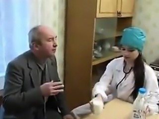 Cute Russian Nurse Having Sex With A Patient