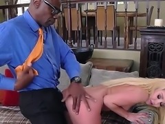 Aaliyah Love likes it interracial. Her tight blonde ass is going to get...