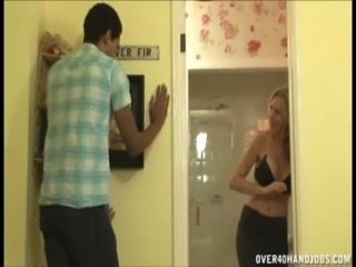 Super Hot Blonde Milf Handjob free