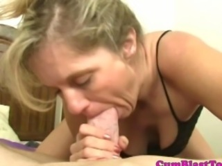 Mature amateurs lingerie gets covered in cum