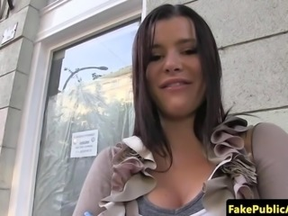 Real hungarian babe pussyfucked in public