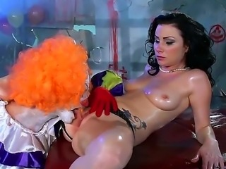 Veruca James could never have imagined that one day she would get fingered and eaten by a circus clown. We can only imagine the multiple orgasms he has given her.