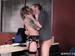 Xander Corvus explores the depth of eye-popping Payton Wests wet cunt with...