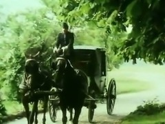Bavarian hottie eats cock in vintage sex video