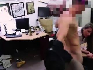 Amateur CFNM MILF fucked for pawn shop cash