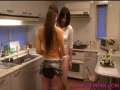 Japanese mature receives oral from babe free