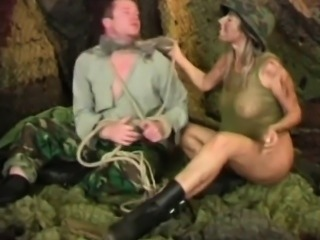 soldier girl deals with her prisoner