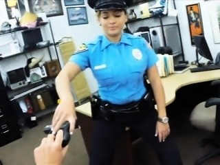 Latina police officer sex with pawn man at the pawnshop