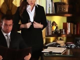 Sexy secretary Maddy Oreilly fucked hard by her hioorny boss