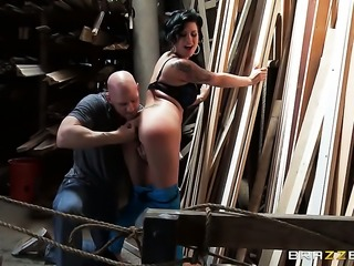 Johnny Sins explores the depth of delicious Eva Angelinas booty with his schlong
